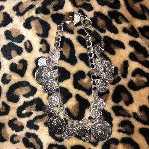 Guess silver charms bracelet
